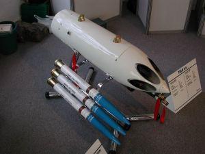 Cohetera ARM-657-A Mamboreta para 6 cohetes Aspid de 57 mm.