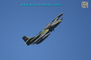 FAU 285 pulling out from bombing training at EMA (E.Sanni)
