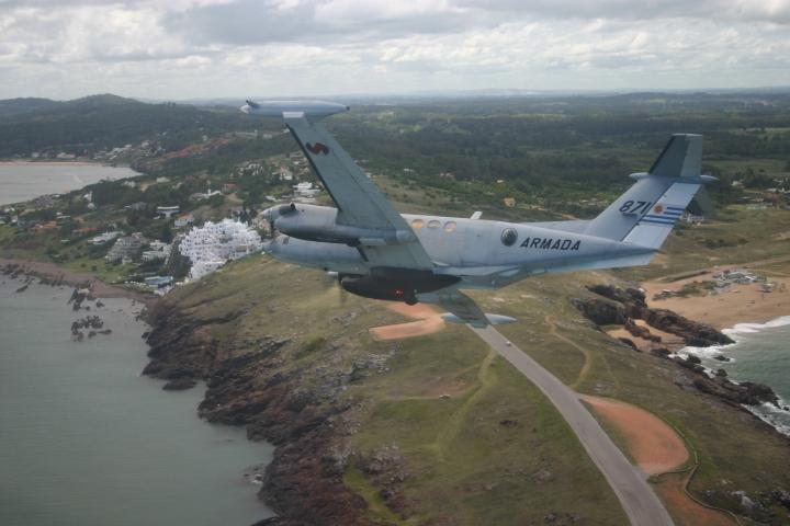 Returning to Base Aeronaval 2, turning over Punta Ballena near Punta del Este.2
