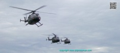 Tres BO-105 se aproximan a la BAEN 2/Three BO-105 approach to land in the BAEN 2.